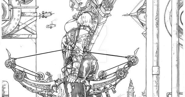 Steampunk Robyn by Kromespawn.deviantart.com on