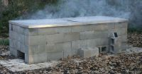Outdoor fire pit for cooking - make your own from cinder ...