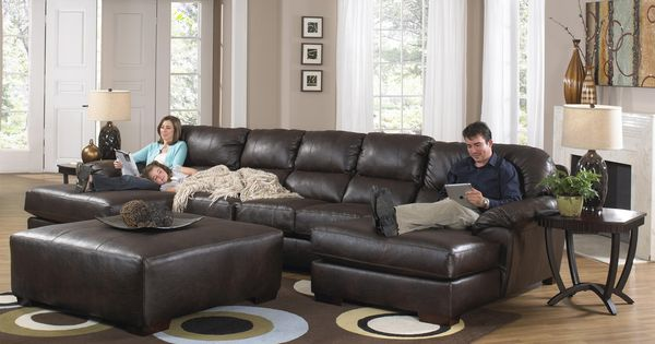 Lawson Two Chaise Sectional Sofa With Five Total Seats By