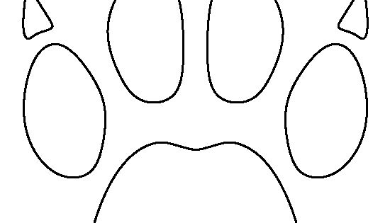 Bobcat paw print pattern. Use the printable outline for