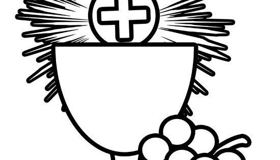 Free Holy Communion Coloring Image ~ use for fi
