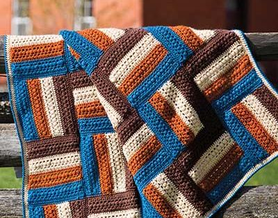 Fence Rail Afghan Crochet Pattern Download from e