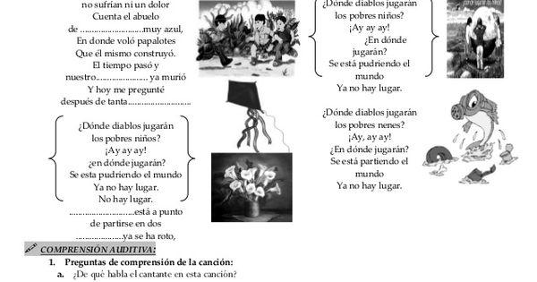 EXPLOTACIÓN DIDÁCTICA DE LA CANCIÓN¿DÓNDE JUGARÁN LOS
