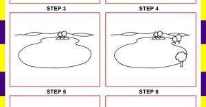 lake draw step easy drawing drawings