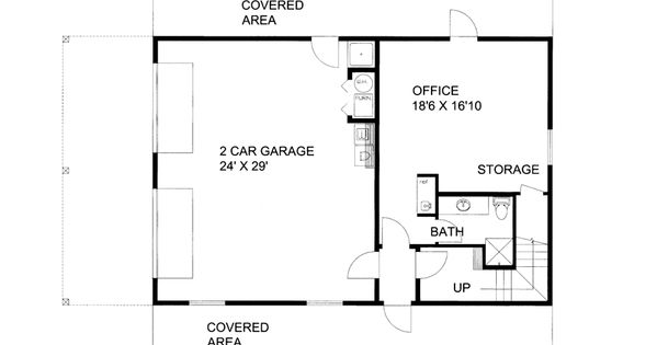 Garage Apartment Plan 85372