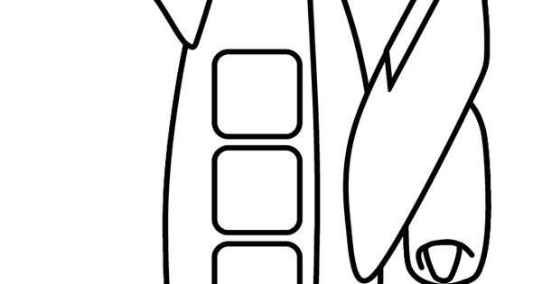 Print coloring page and book, Airplane5 Transportation