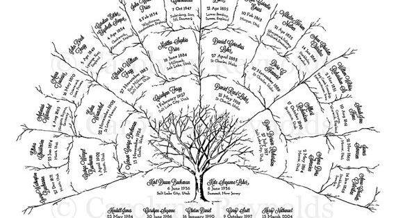 Custom Family Tree Fan Chart #printable #genealogy