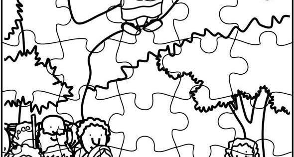 Zacchaeus Come Down Puzzle (Activity Sheet) Activity