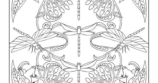 Creative Haven Art Nouveau Animal Designs Coloring Book