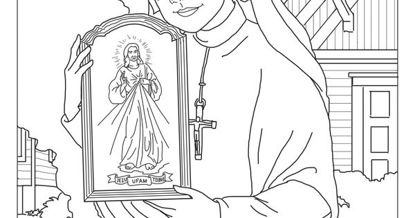 Divine mercy, Coloring pages and Coloring on Pinterest