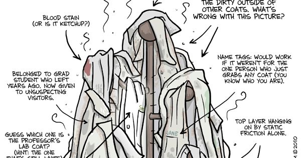 PHD Comics: There is a lab coat rack in every lab....and