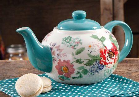 The Pioneer Woman Country Garden Teapot  Gardens The