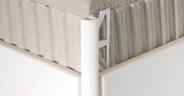 PVC Aluminum Quarter Circle Tile Trim Finish White Tile