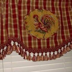 French Lace Kitchen Curtains Island For Sale Chicken Decor And Tableclothes | Rooster ...