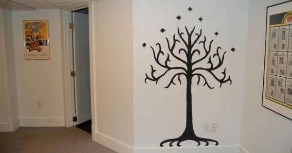 Lord of the Rings Tolkien Tree of Gondor Wall Decal