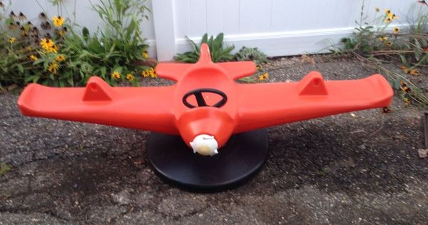 rocking chairs target chair covers next day delivery details about little tikes airplane teeter totter vintage   childhood