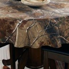 Round Rustic Kitchen Table Glass Subway Tile #new Realtree Ap™ Camo Tablecloth – 56