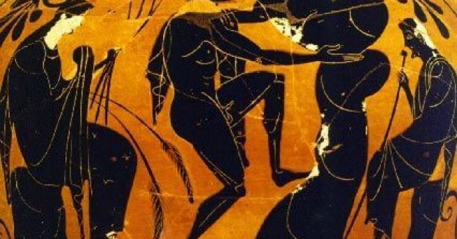 Image result for Ancient Greek sisyphus vase