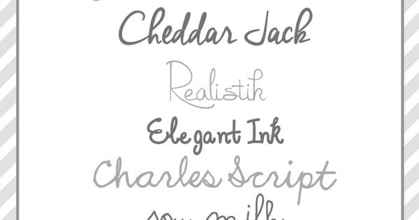Best Hand Script Fonts from Moritz Fine Blog Designs