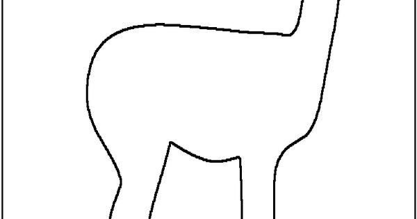 Lama template: cut out of brown paper and glue white or