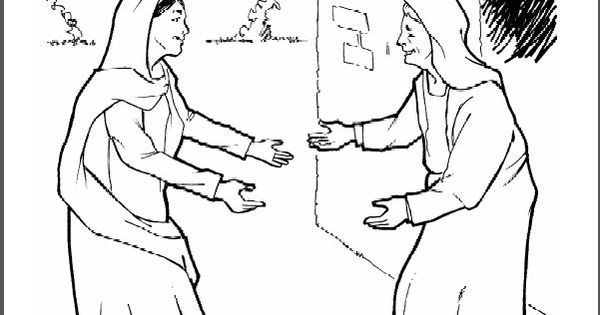 The Story of Mary: Leaping for Joy- coloring page, audio