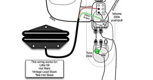 Tele Wiring Diagram  1 Humbucker, 1 Single Coil with pushpull | Telecaster Build | Pinterest