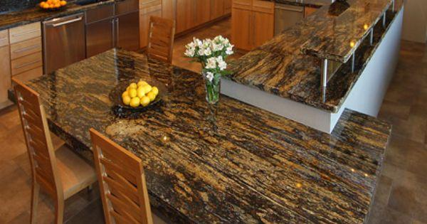 kitchen sideboard cabinet white appliances beautiful aurora borealis granite | stone slab stuff ...