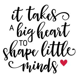 Silhouette Design Store: it takes a big heart teacher
