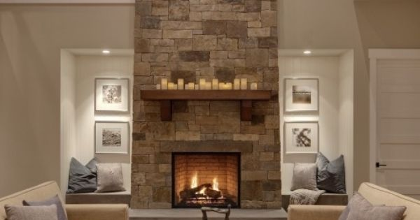 EMPHASIS The fireplace in this room creates emphasis because it is the center or the focus The