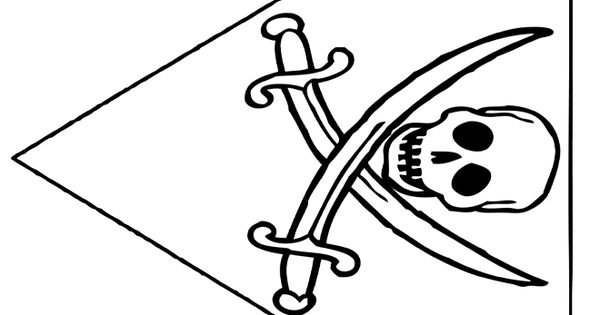 Pirate flags, Coloring pages and Pirates on Pinterest