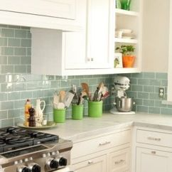 Beach House Kitchen Backsplash Ideas Bella Surf Glass Subway Tile | Tiles, Sea And Tiling