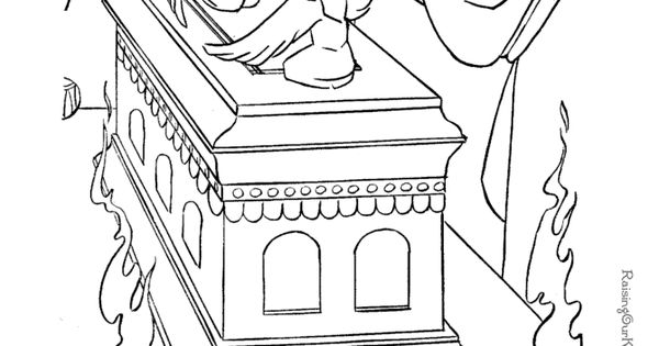 The Ark of the Covenant coloring page to print. This could