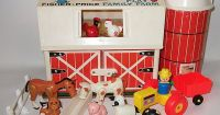 Vintage Fisher Price Barn Farm Silo Little People | Fisher ...