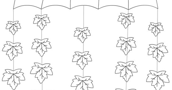 Pendente con ombrello e foglie da realizzare con i