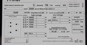 Transformer nameplate with ratings and connections   Energy and Power   Pinterest   Dry type