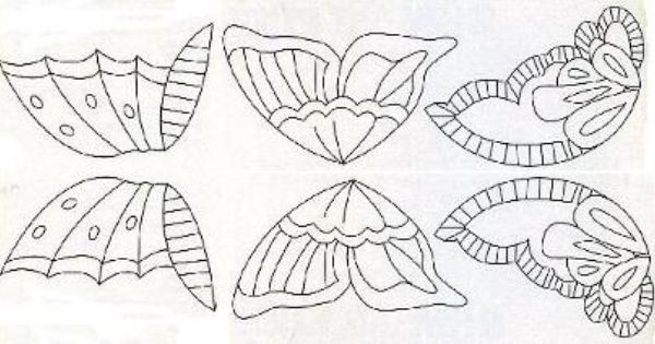 Patterns for making icing butterflies from http://www