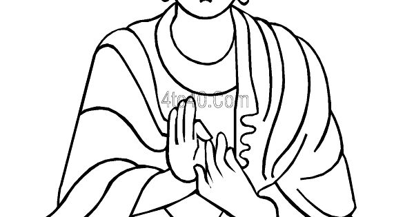 Lord Buddha Face Line Art