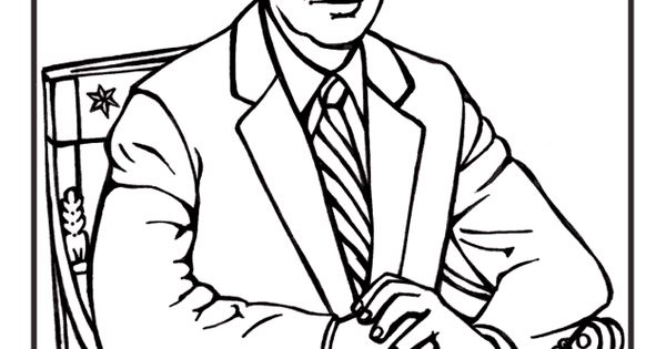 Free printable President Jimmy Carter coloring pages