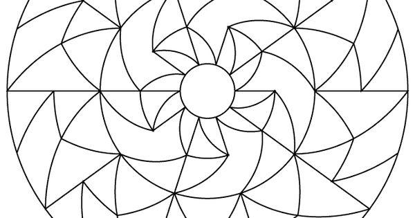 Simple Mandalas for Kids Simple Geometric Mandala