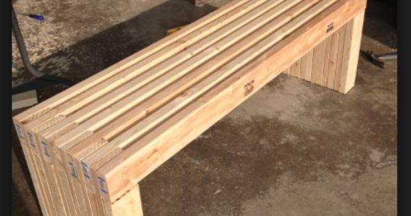Diy 2x4 Bench Garden Benches Pinterest 2x4 Bench