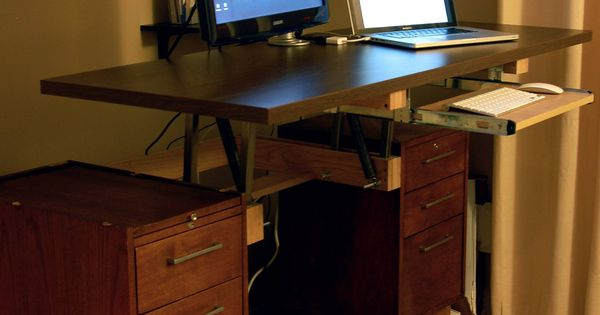 DIY Convertible Standing Desk  Imgur Love the idea of