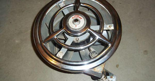 Vintage Retro Nutone Kitchen  Bath Exhaust Fan w Chrome