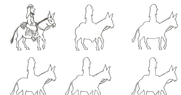 outline what 's right for the man on the donkey ? entry