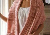 beautiful crochet shawl with pockets. Would be great to ...