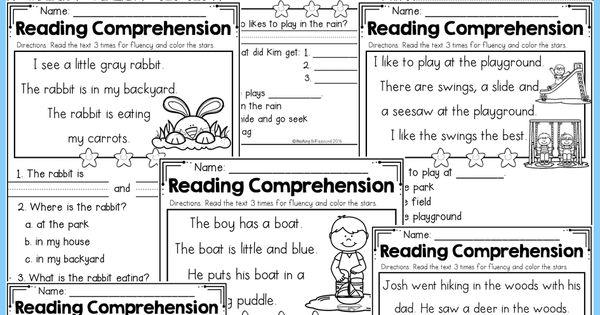 Kindergarten Reading Comprehension (Spring Edition