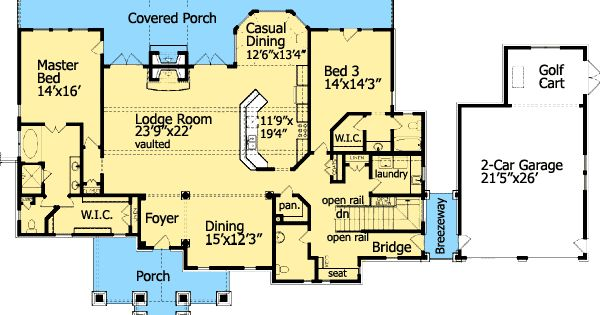 Plan 15792GE: Cozy Cottage With Dual Master Suite