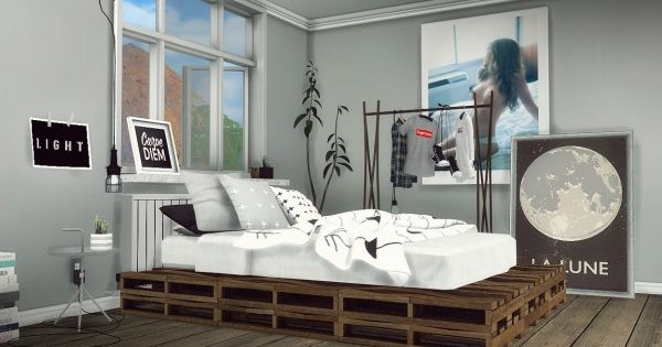 MXIMS Rustic Pallet Bed Part 1  Sims 4 Downloads  Sims