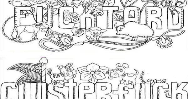 Adults Coloring Book Swear Words Design Fun Patterns Fancy