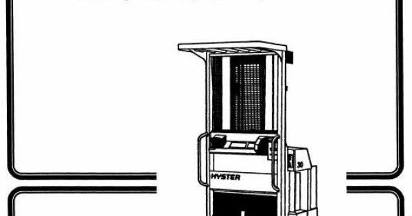 Hyster Electric Reach Truck Type B174: R30ES Workshop