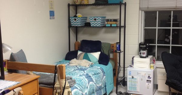 My freshman dorm room at Longwood University This is a